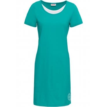 Baumwoll Jerseykleid kurzer Arm  in grün für Damen von bonprix