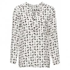 Bedruckte Bluse in weiß von bonprix
