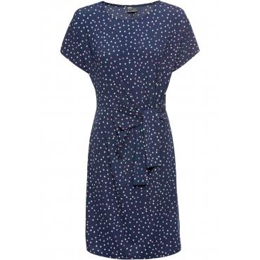 Bedrucktes Jerseykleid kurzer Arm  in blau für Damen von bonprix