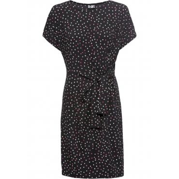 Bedrucktes Jerseykleid kurzer Arm  in schwarz für Damen von bonprix