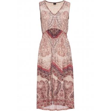 Bedrucktes Jerseykleid ohne Ärmel  in beige für Damen von bonprix