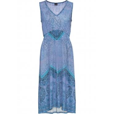 Bedrucktes Jerseykleid ohne Ärmel  in blau für Damen von bonprix