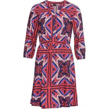 Bedrucktes Kleid 3/4 Arm  in rot für Damen von bonprix