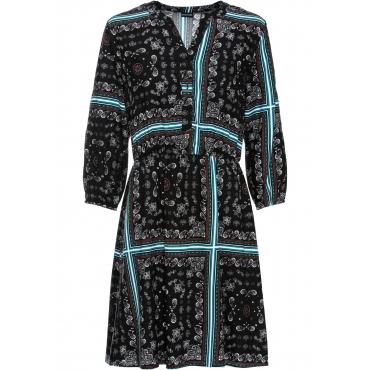 Bedrucktes Kleid 3/4 Arm  in schwarz für Damen von bonprix