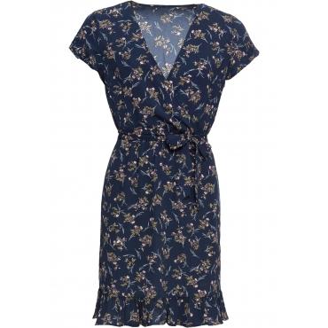 Bedrucktes Kleid kurzer Arm  in blau für Damen von bonprix