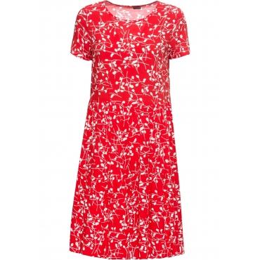 Bedrucktes Kleid kurzer Arm  in rot für Damen von bonprix