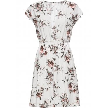 Bedrucktes Kleid kurzer Arm  in weiß für Damen von bonprix