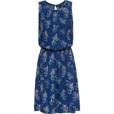 Bedrucktes Kleid ohne Ärmel  in blau für Damen von bonprix
