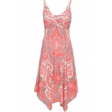 Bedrucktes Kleid ohne Ärmel  in orange für Damen von bonprix