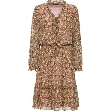 Bedrucktes Kleid langarm  in braun für Damen von bonprix