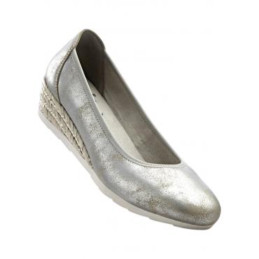 Bequemer Keilpumps in grau für Damen von bonprix
