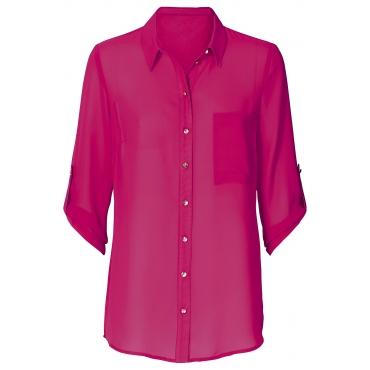 Bluse 3/4 Arm  figurumspielend  in pink von bonprix