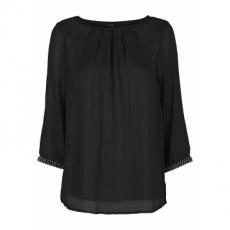 Bluse 3/4 Arm  in schwarz (Rundhals) von bonprix