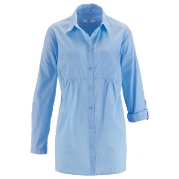 Bluse, Langarm in blau von bonprix