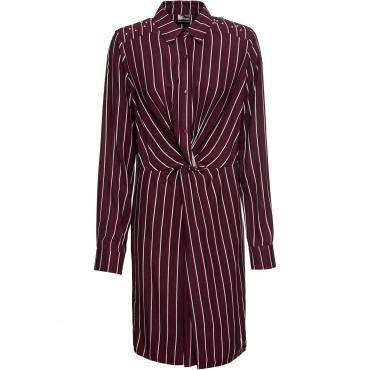Blusenkleid mit Knoten langarm  in rot für Damen von bonprix