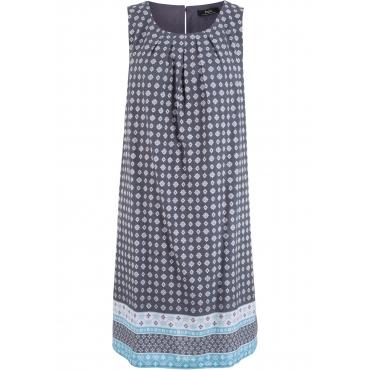 Blusenkleid ohne Ärmel  in blau von bonprix