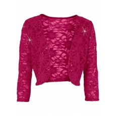 Bolero 3/4 Arm  in pink für Damen von bonprix