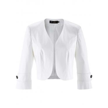 Bolero-Jacke 3/4 Arm  in weiß für Damen von bonprix
