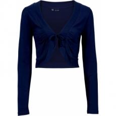 Bolero langarm  in blau (V-Ausschnitt) für Damen von bonprix