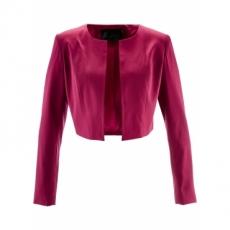 Bolero langarm  in pink (Rundhals) für Damen von bonprix