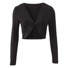 Bolero langarm  in schwarz (V-Ausschnitt) für Damen von bonprix