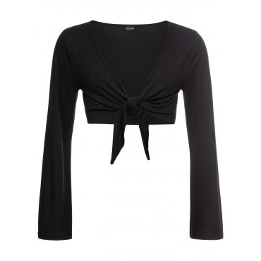 Bolero mit Trompetenärmeln langarm  in schwarz für Damen von bonprix