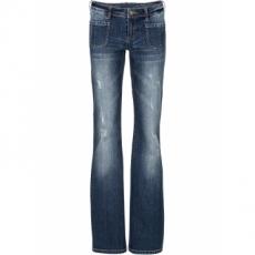 Bootcut Jeans in schwarz für Damen von bonprix