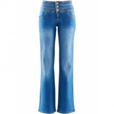 Bootcut Stretch-Jeans Bauch-Weg in blau für Damen von bonprix