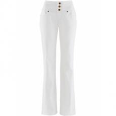Bootcut Stretch-Jeans Bauch-Weg in weiß für Damen von bonprix