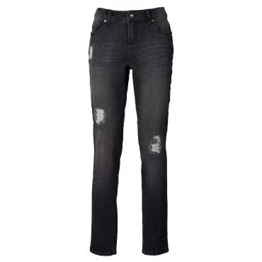 Boyfriend-Jeans in schwarz für Damen von bonprix