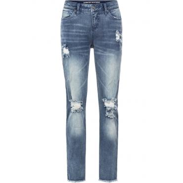 Boyfriend-Jeans mit Destroyed-Details in blau für Damen von bonprix