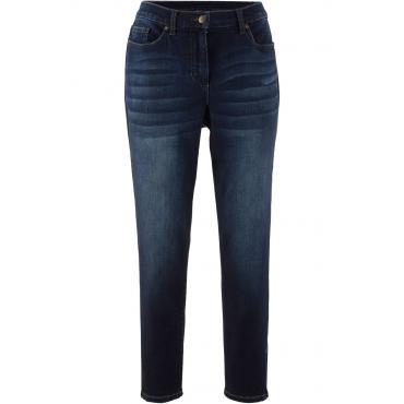 Boyfriend-Stretchjeans mit Zipperdetail in schwarz für Damen von bonprix