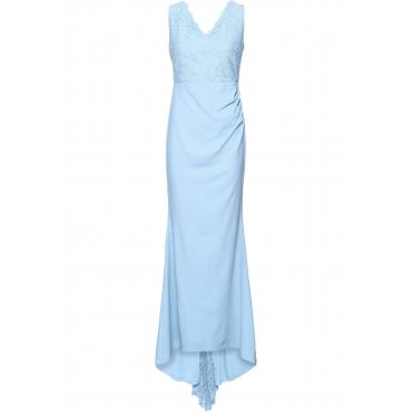 Brautkleid ohne Ärmel  in blau (V-Ausschnitt)  von bonprix