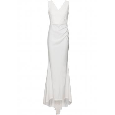 Brautkleid ohne Ärmel  in weiß (V-Ausschnitt)  von bonprix