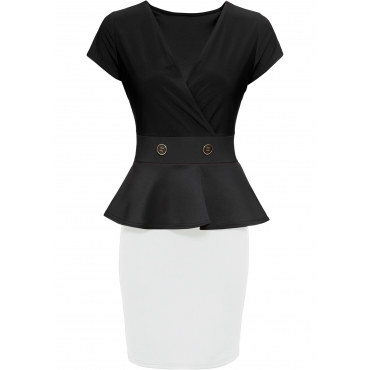 Business Kleid kurzer Arm  in schwarz von bonprix