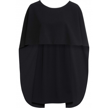 Cape-Kleid ohne Ärmel  schwarz (Rundhals) Damen, bonprix