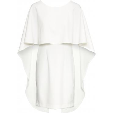 Cape-Kleid ohne Ärmel  weiß (Rundhals) Damen, bonprix