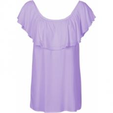Carmen-Bluse in lila von bonprix