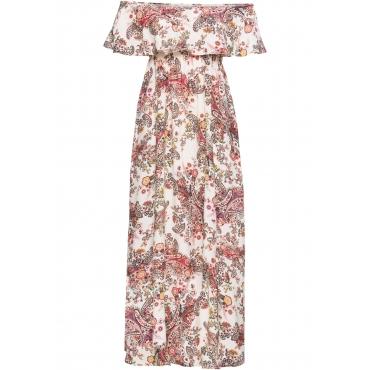 Carmen-Kleid in beige  von bonprix