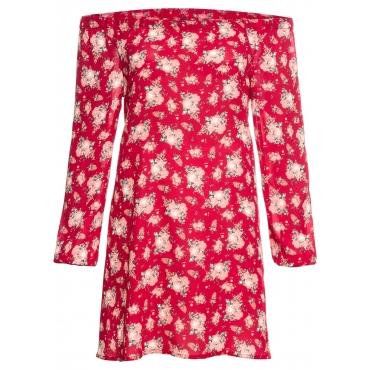 Carmen-Kleid in rot für Damen von bonprix