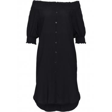 Carmen-Kleid in schwarz  von bonprix