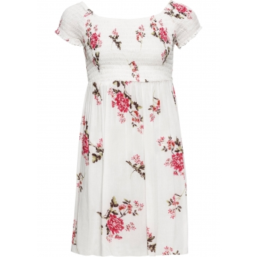 Carmen-Kleid in weiß für Damen von bonprix