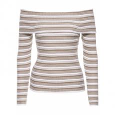 Carmen-Pullover in weiß für Damen von bonprix