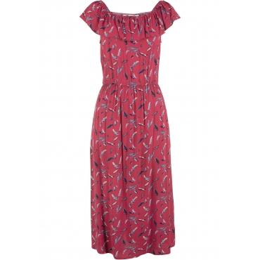 Carmenkleid, bedruckt in rot von bonprix