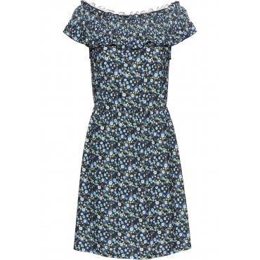 Carmenkleid in blau  von bonprix