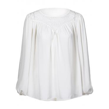Chiffon Bluse in weiß von bonprix