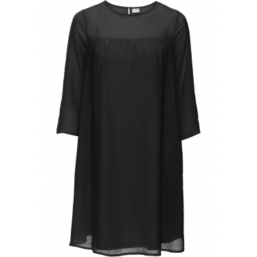 Chiffon-Kleid in schwarz von bonprix