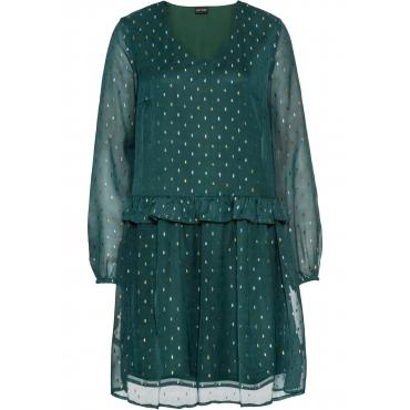 Chiffon-Kleid langarm  in petrol für Damen von bonprix
