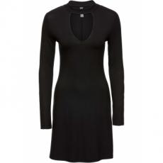 Choker-Shirtkleid in schwarz von bonprix