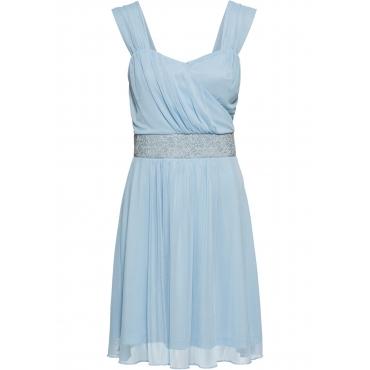 Cocktail-Jerseykleid mit Mesh ohne Ärmel  in lila für Damen von bonprix